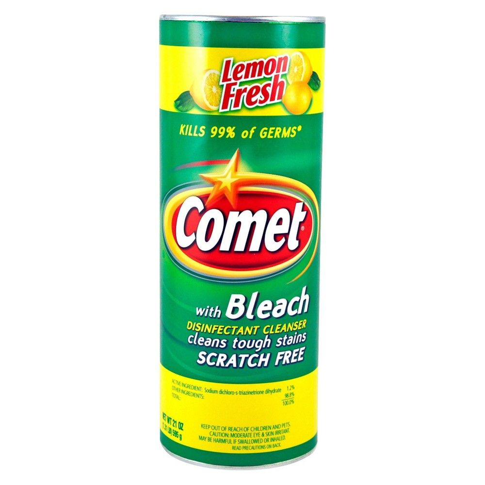 Comet Lemon Fresh Disinfectant Cleanser With Bleach 21 Oz With