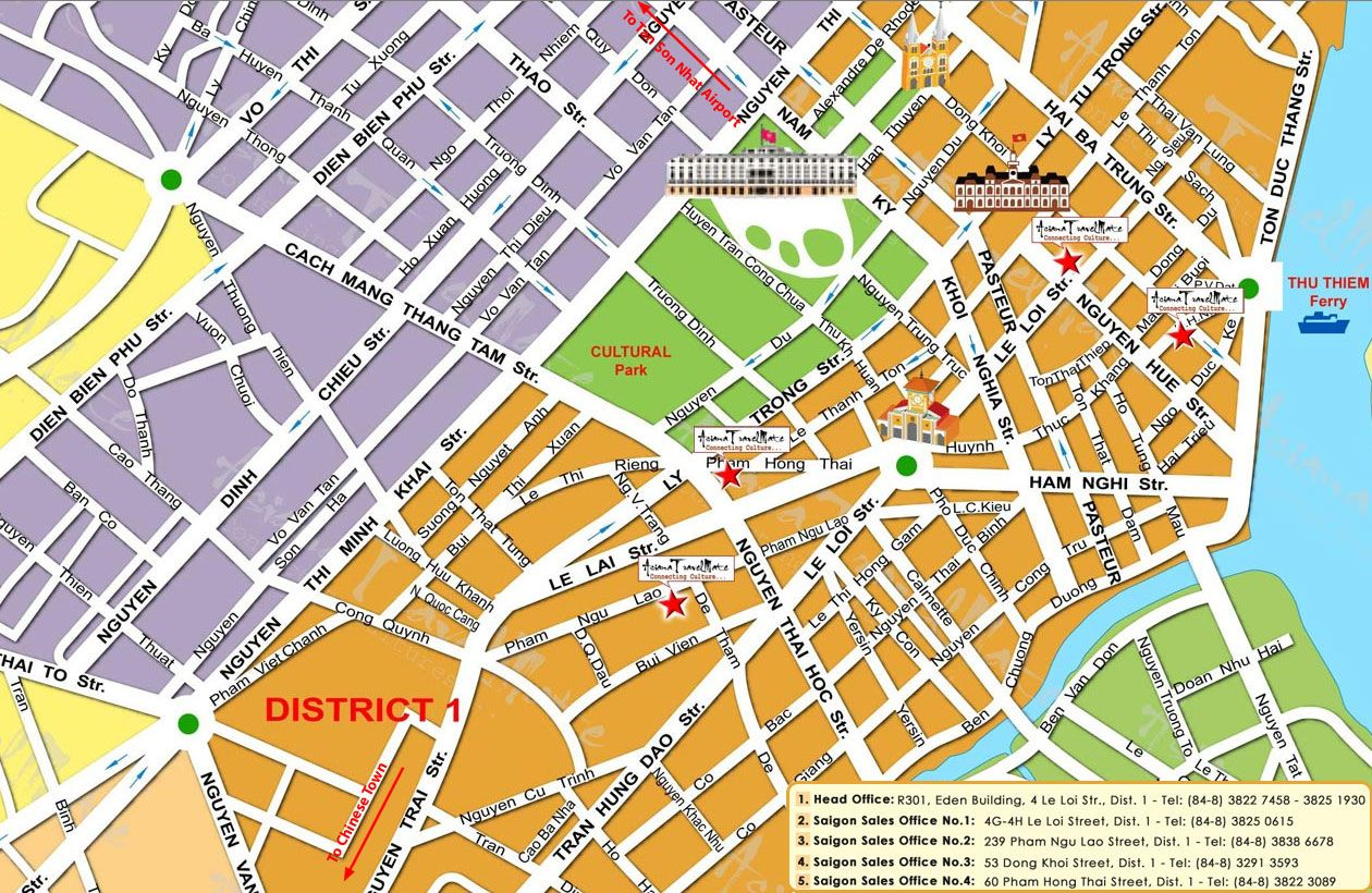 Ho Chi Minh Tourist Map Ho Chi Minh mappery map Pinterest