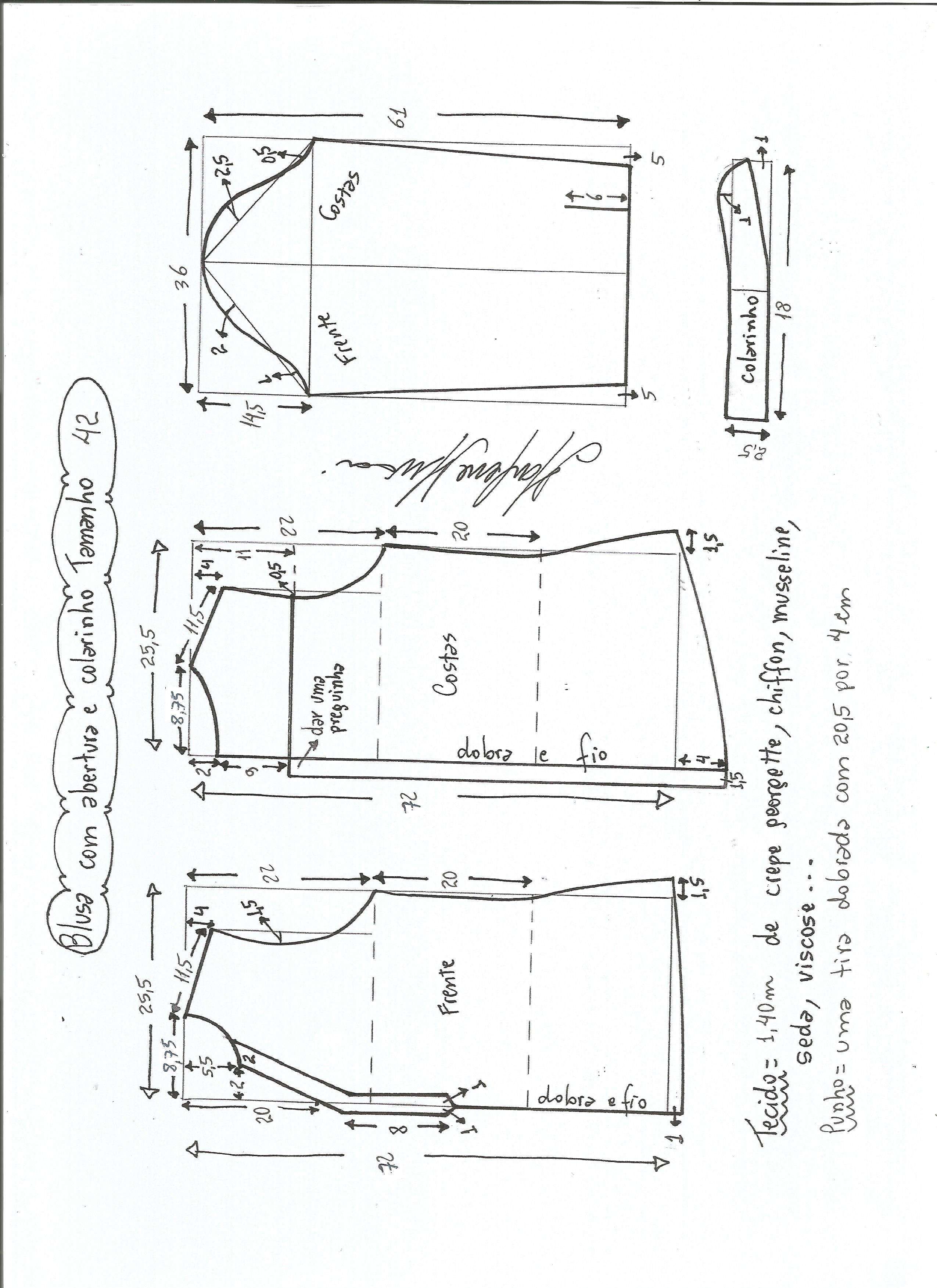 Blusa camisera manga larga con -abertura-42.jpg (2550×3507) Talla Grande