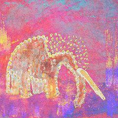 Featured Art - Pink Elephant  by Geckojoy