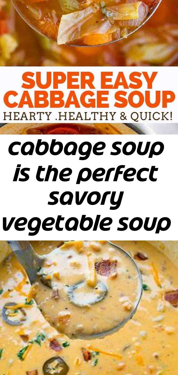 Cabbage soup is the perfect savory vegetable soup made with cabbage tomato carrots celery and 10 Cabbage Soup is the PERFECT savory vegetable soup made with cabbage tomat...