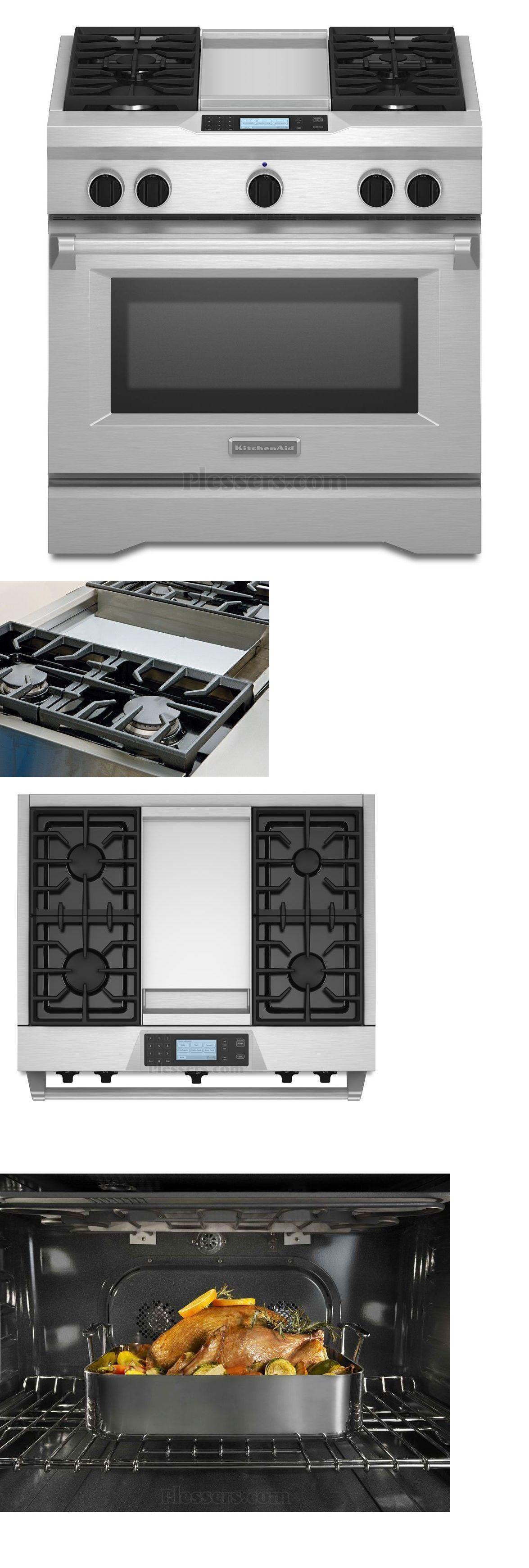 Ranges And Stoves 71250: Kitchenaid Kdru763vss 36 6 Burner Dual Fuel Slide  In