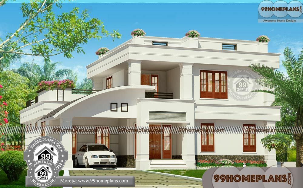 Architectural Design Plans For Houses With Beautiful Double Story Houses Having 2 Floor 4 Total Bedroom House Arch Design New House Plans Kerala House Design