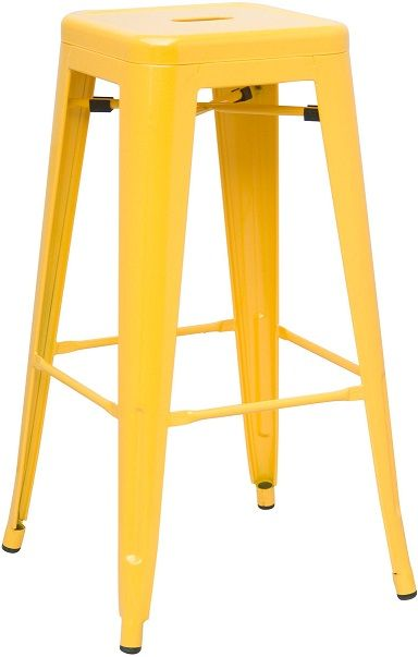 Yellow Metal Bar Stools Zef Jam