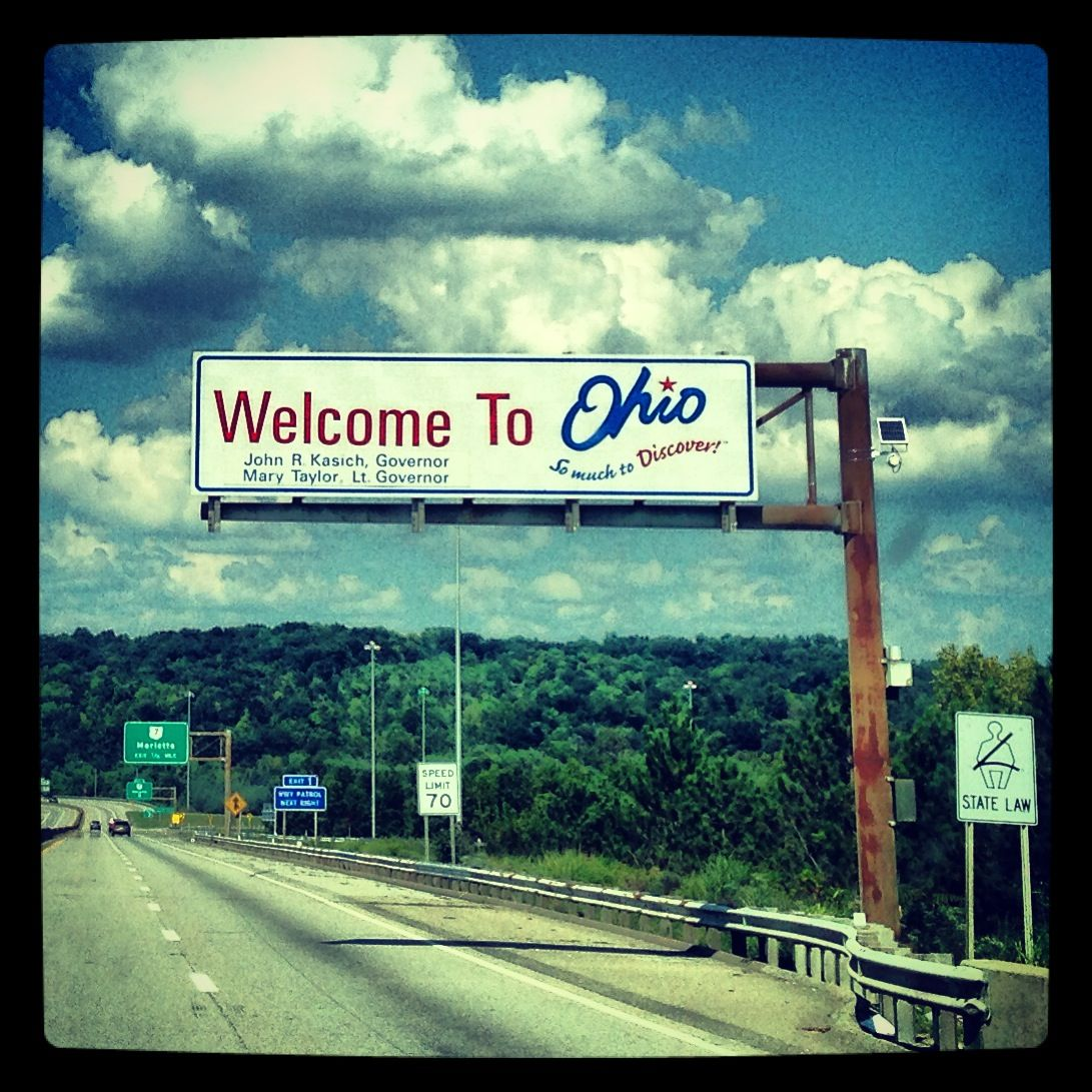 Ohio- Love Ohio Sign Entering