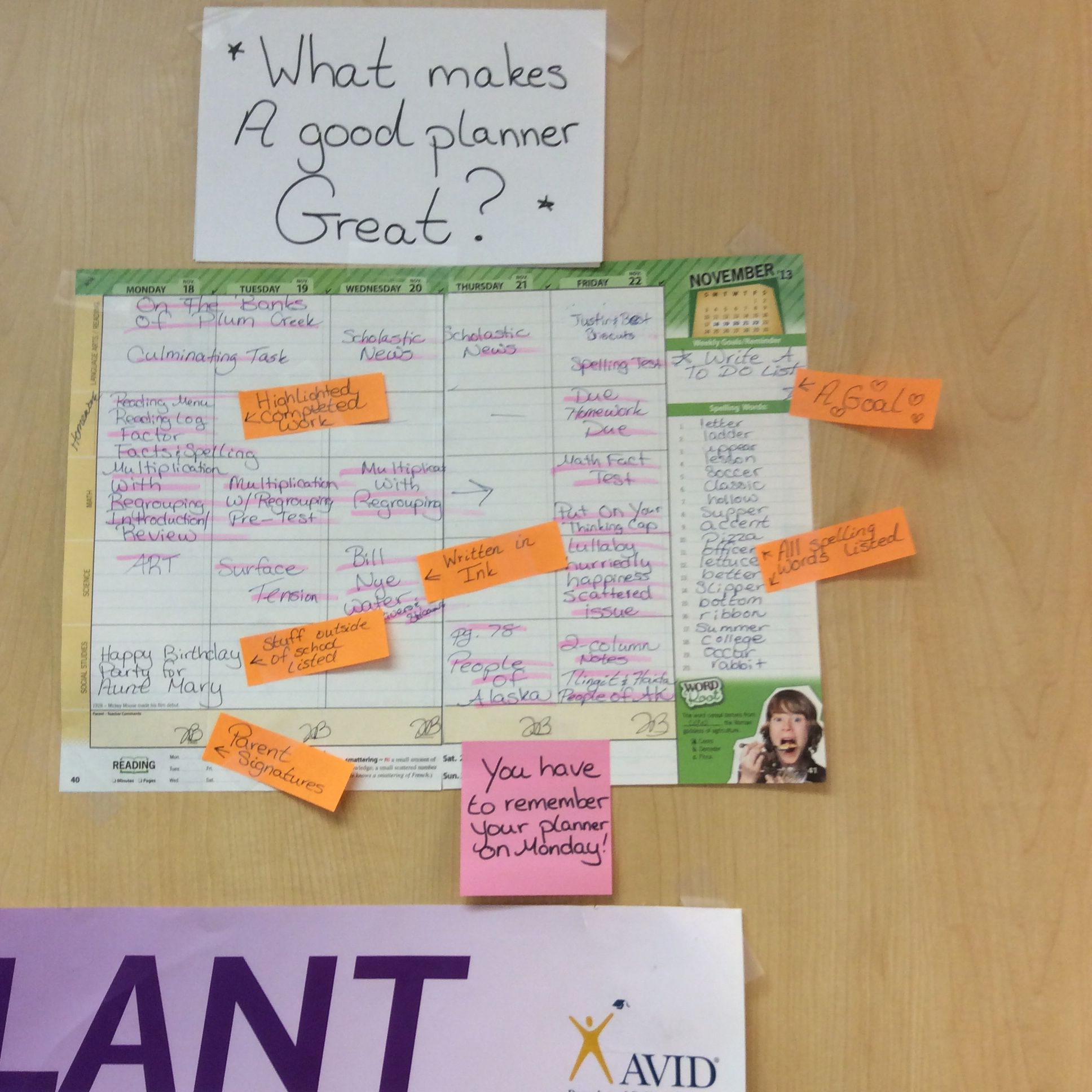 What Makes A Great Planner!