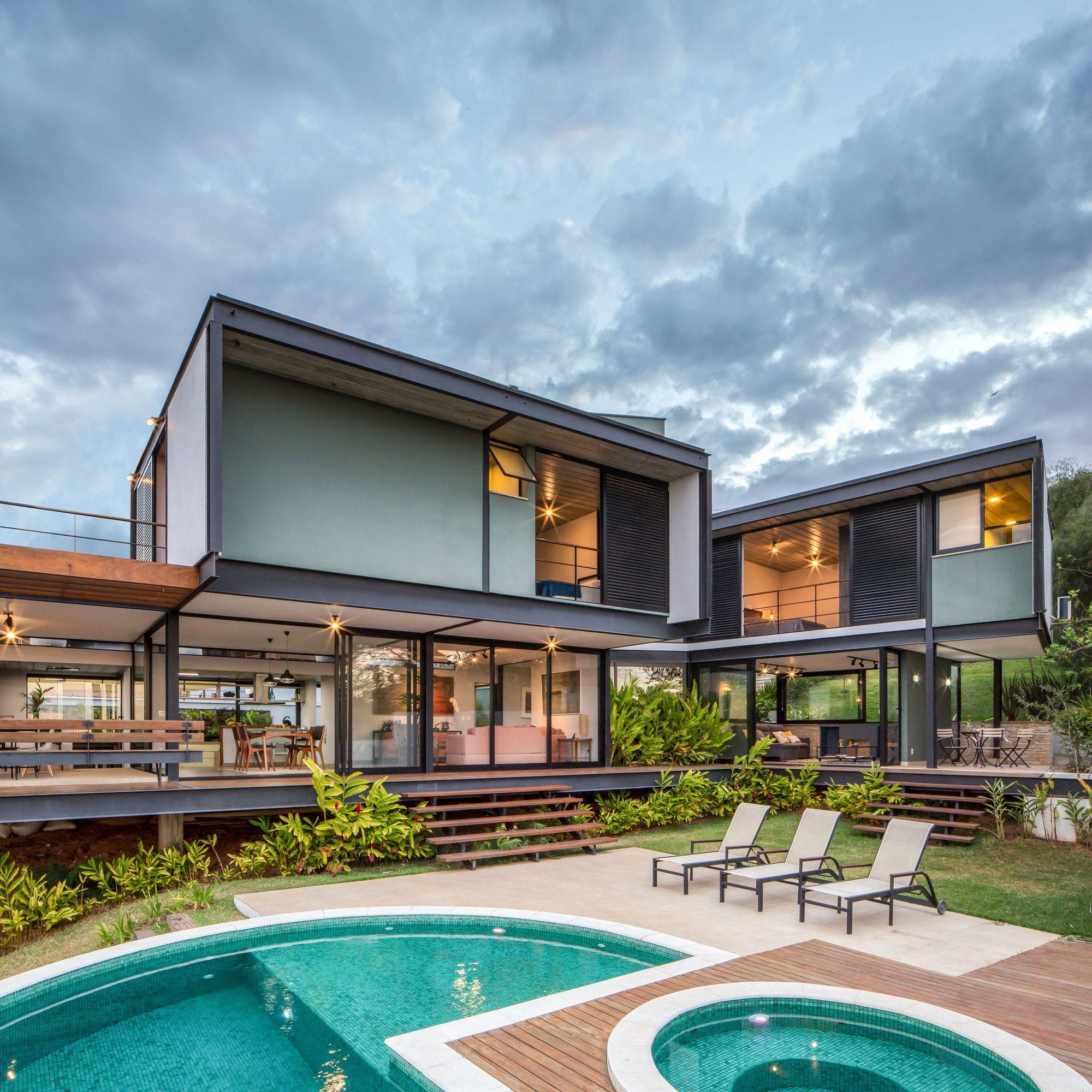 Gallery Of Mt House Telles Arquitetura 21 Modern House Design Architecture House On Stilts