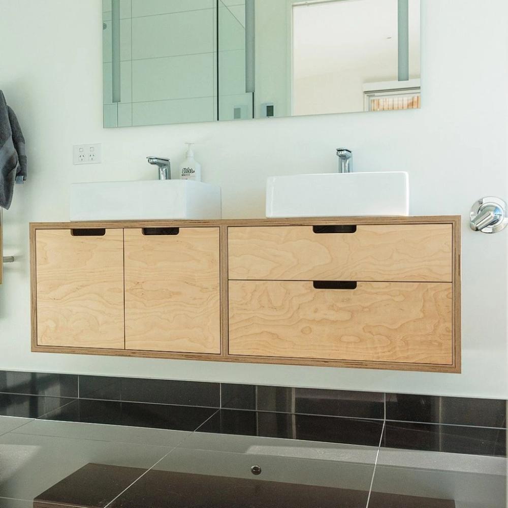 Birch Plywood Vanity Main Bathroom Bathroom Storage Solutions Diy Bathroom Vanity Diy Vanity