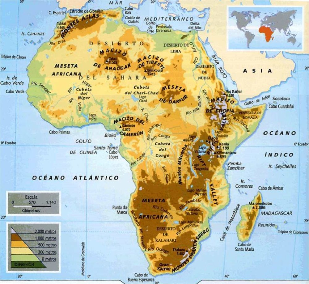 Mapa Fisico Da Africa Mapa Da Asia Mapa Mundi E Geografia