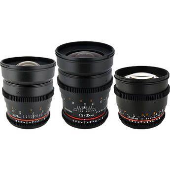 Rokinon T1 5 Cine Lens Bundle For Canon Ef Mount Zoom Lens Sony E Mount Digital Camera Lens