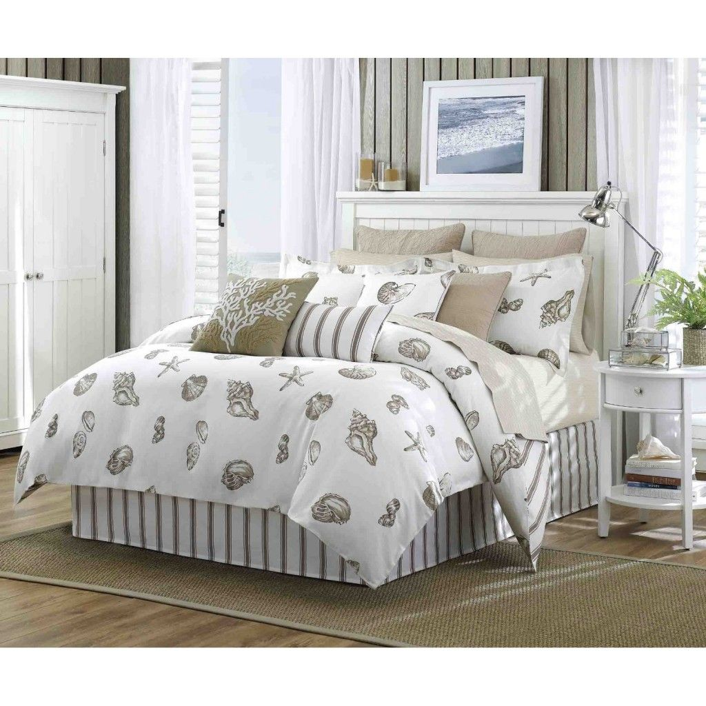 Bedroom Great Beach Theme Bedding With Mattress And Night Stand