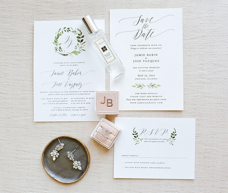 Romantic Boho Wedding, Garden Wedding Stationary, Greenery ...