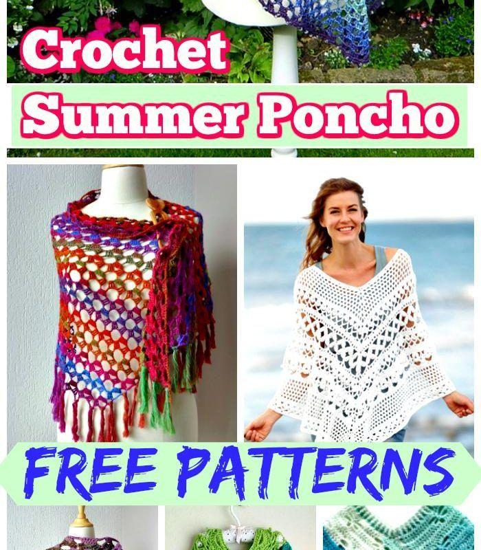 20 Free Crochet Summer Poncho Patterns for Women\'s | crochet | Pinterest