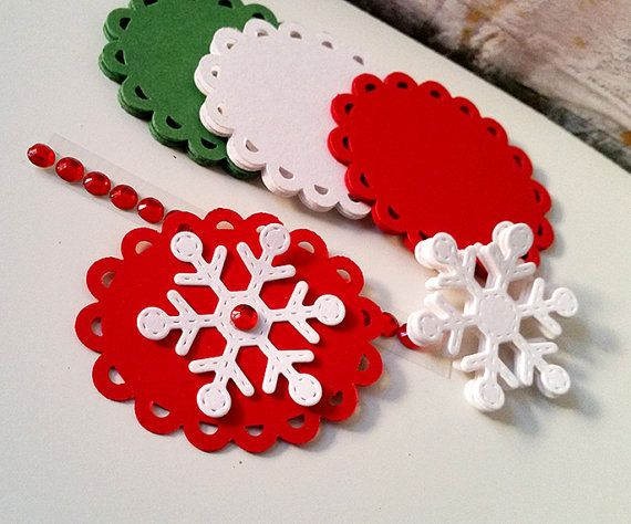 Christmas Tags Kit, DIY Christmas Tags, Gift Wrapping Kit, DIY Gift Wrapping 90 pcs