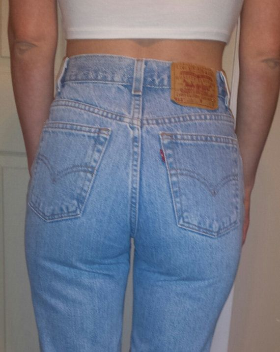 e1dcb1c4c1 HIGH WAIST VINTAGE Levi denim Jeans Light Blue by HeathersHandss ...