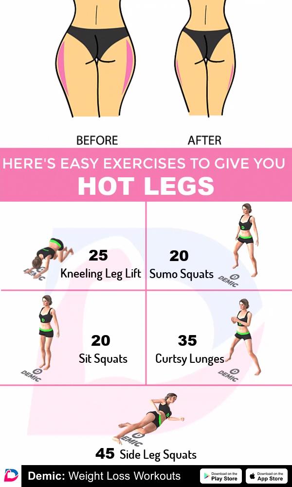 Demic: Weight Loss Workouts -  #Fitness #trainieren #Übungen #hotlegs #legs #Frauen   - #bizepsgerät...