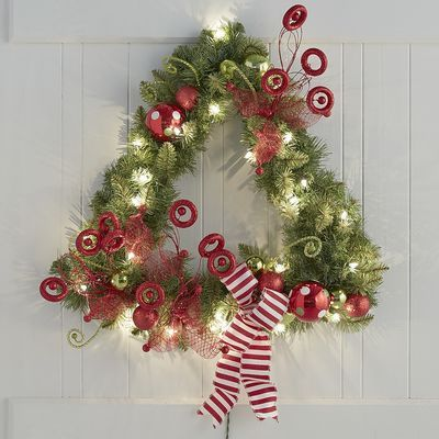 Ditch the traditional round wreath this year and think outside of