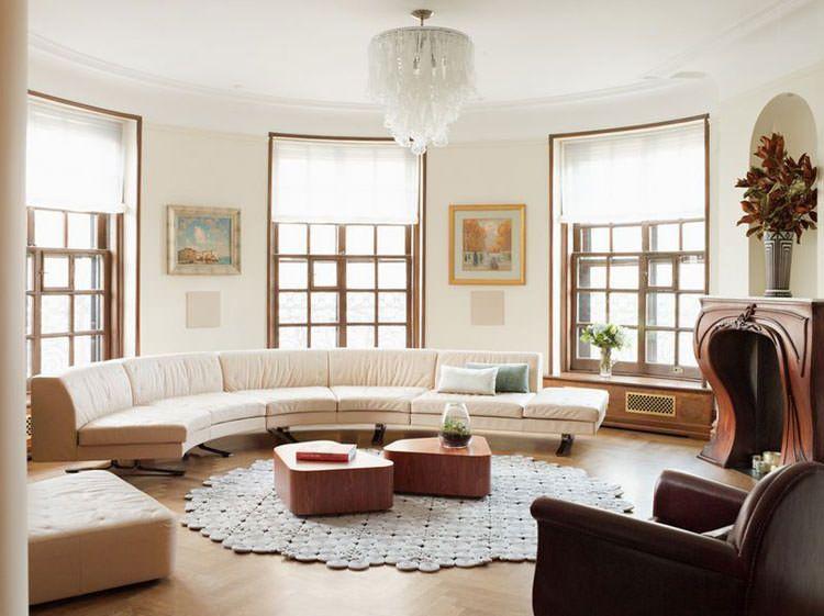 31 esempi di arredamento con divani rotondi gerti for Esempi di arredamento