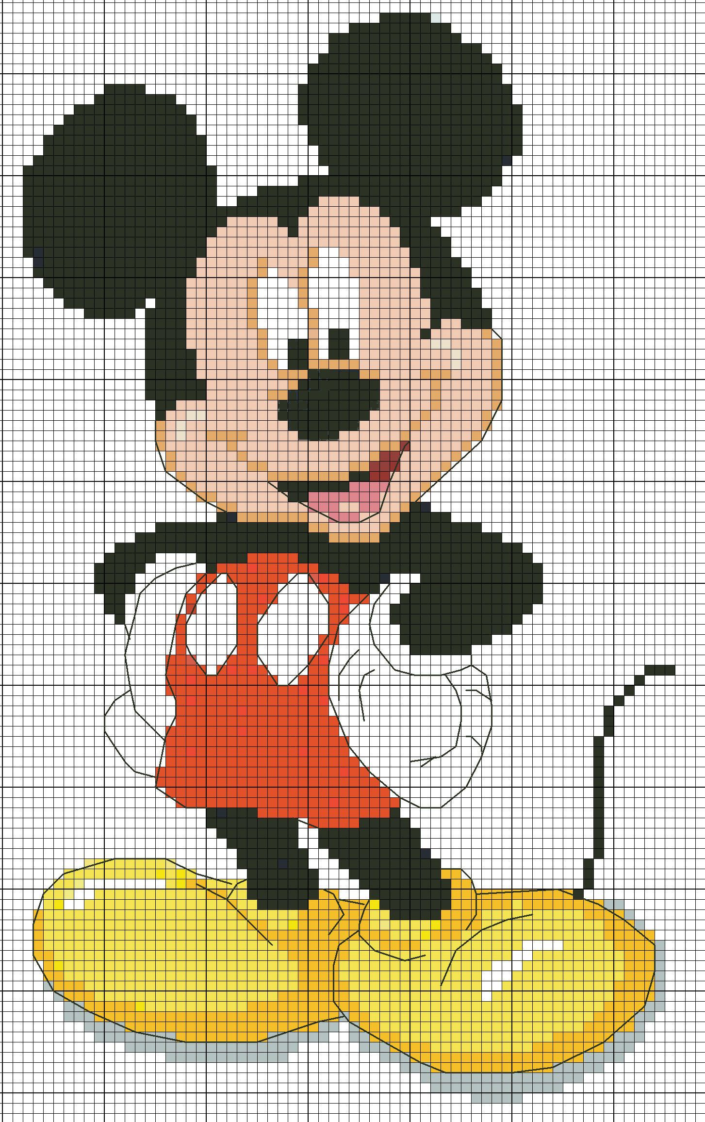 Mickey La Souris Tricot Pinterest Kreuzstich Häkeln Et Stricken