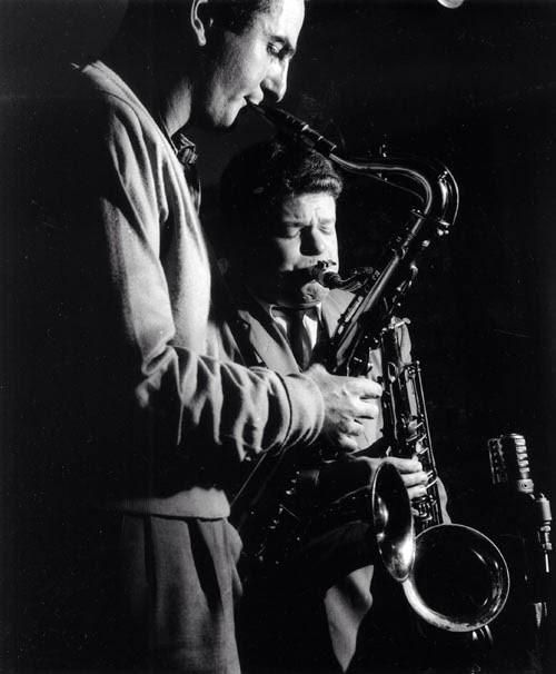 Ronnie Scott & Tubby Hayes, Leeds 1956 by Terry Cryer