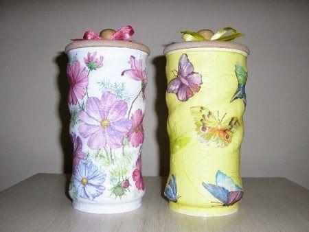 ARTESANATO COM QUIANE - Paps,Moldes,E.V.A,Feltro,Costuras,Fofuchas 3D: artesanato em latas
