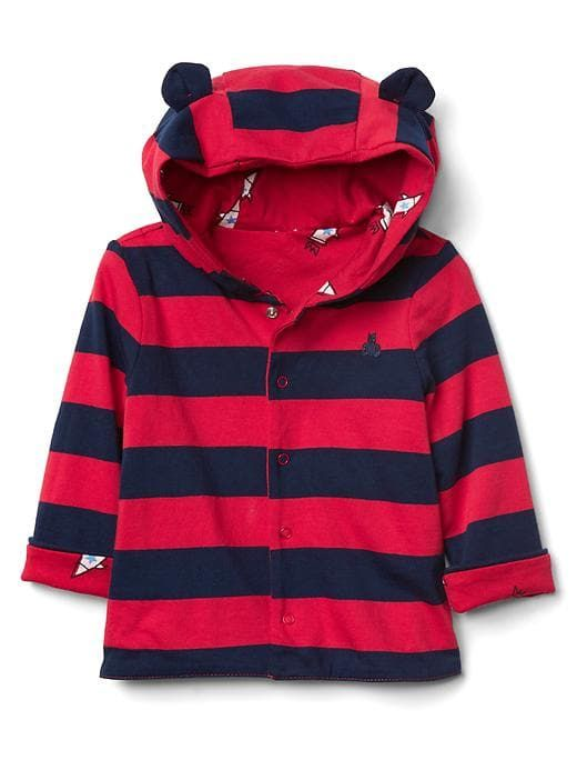 a542a888b Gap Baby Reversible Bear Snap Hoodie Pepper Red | Products ...