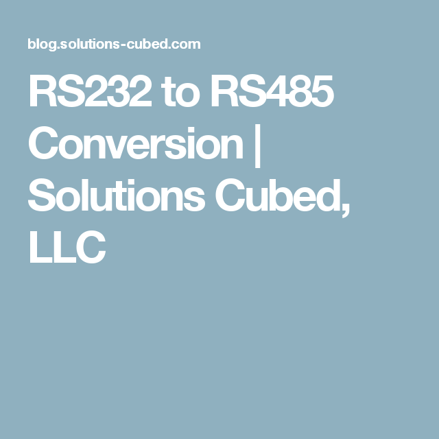 RS232 to RS485 Conversion | Pinterest