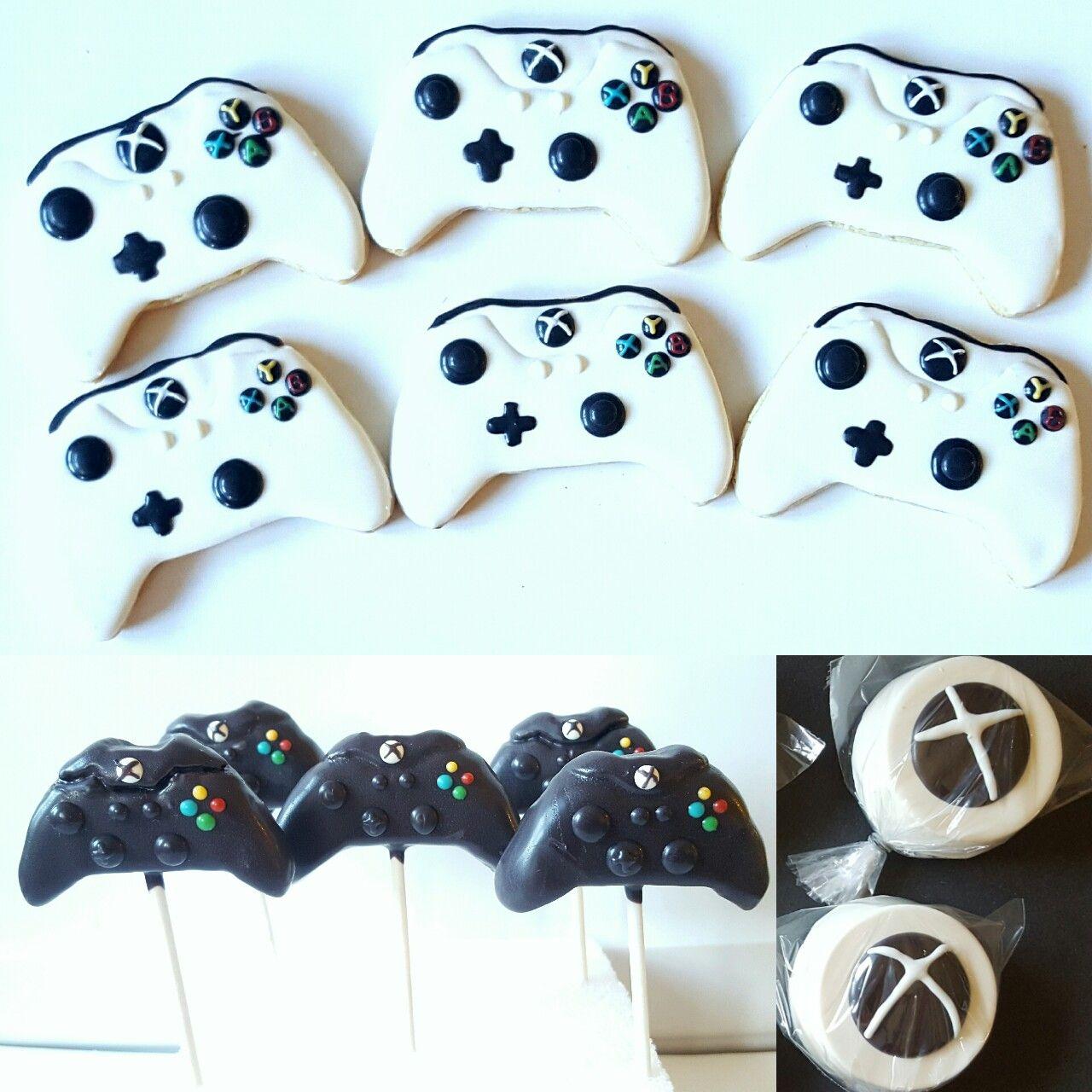 Xbox Theme Treats Xbox Controller Cookies Cake Pops Chocolate Dipped Oreo Chocolate Dipped Oreo Sugar Cookie