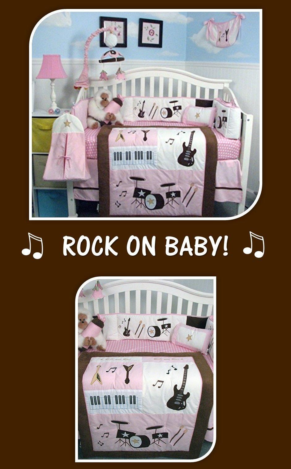 This music theme baby nursery crib bedding set is just so ...