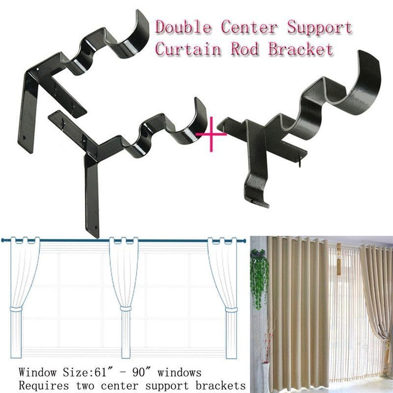 Pin On Kwik Hang Double Center Support Curtain Rod Bracket Into