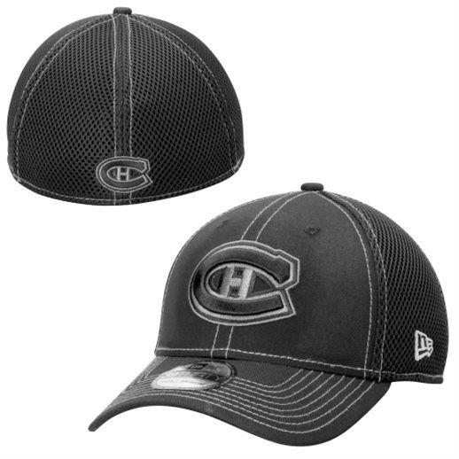 size 40 1ff6a ad60d New Era Montreal Canadiens Black Neo Flex Hat