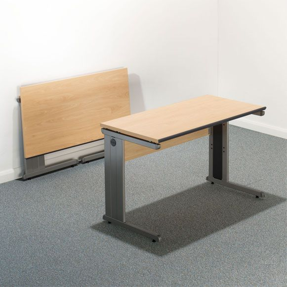 Straight edge desk 120x60 folding desk healthy for Office folding tables