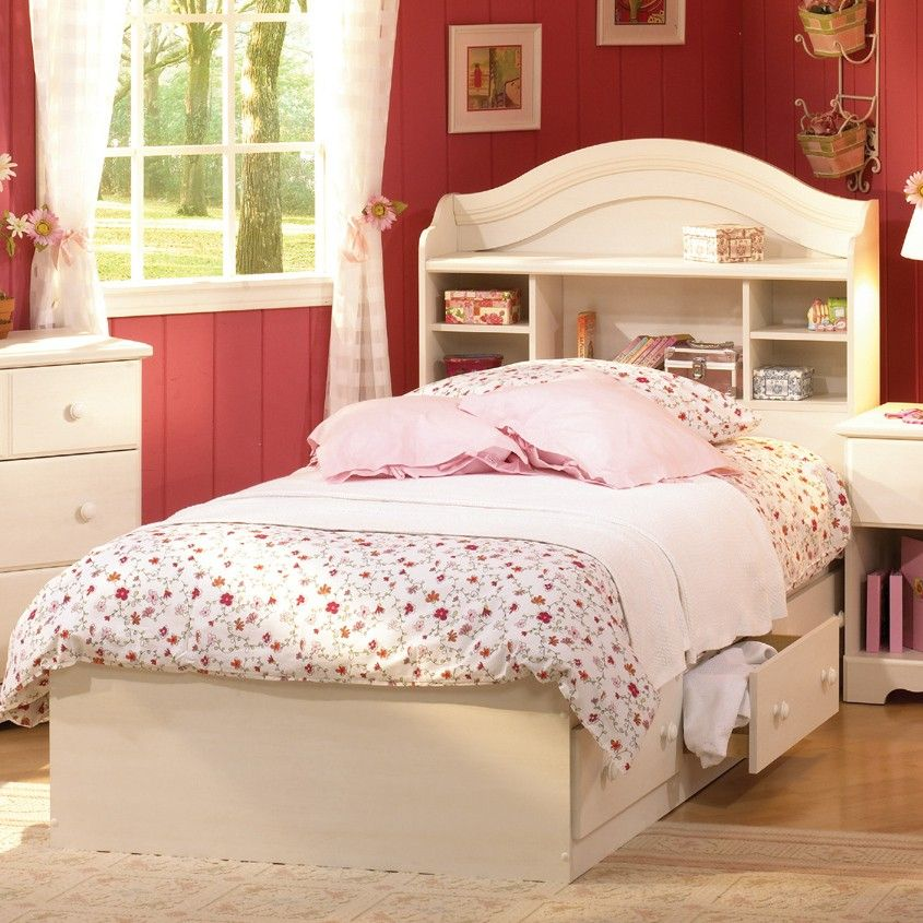 Good South Shore Summer Breeze White Wash Mates Bed Summer Breeze White Wash  Kids Mates Bed   Kids Beds   Bedroom   Furniture