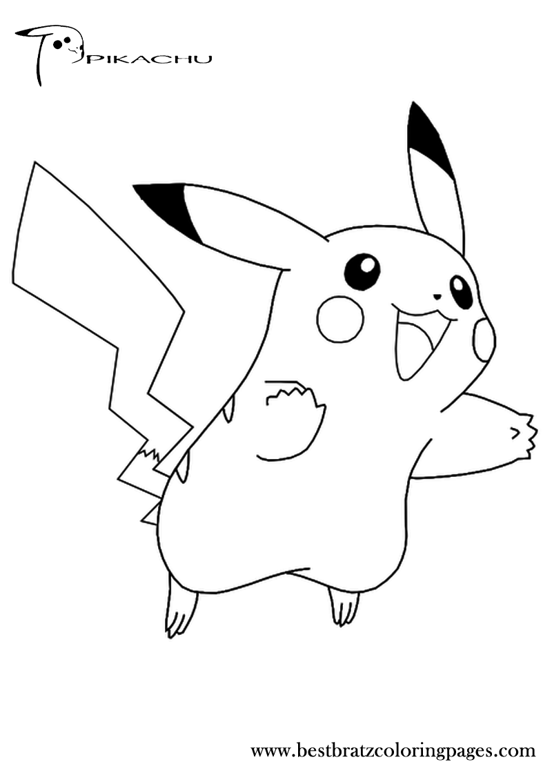 Pokemon coloring pages typhlosion - Free Printable Pikachu Coloring Pages For Kids