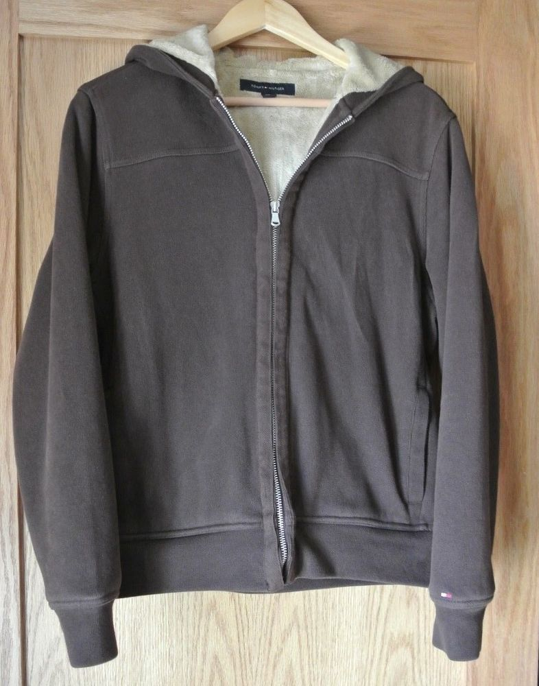Tommy Hilfiger Small Mens Jacket Faux Fur Lined Full Zip