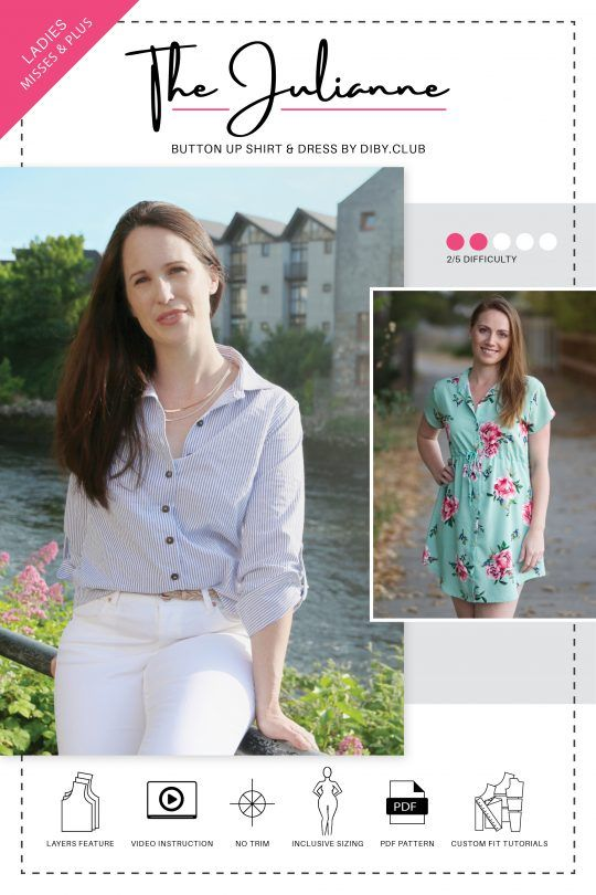 The Best Women\'s PDF Sewing Patterns | DIBY Club | Schnittmuster ...