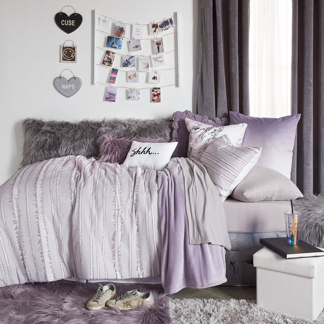 Best Such A Cute Purple Themed College Dorm Room Idea Dorm 400 x 300