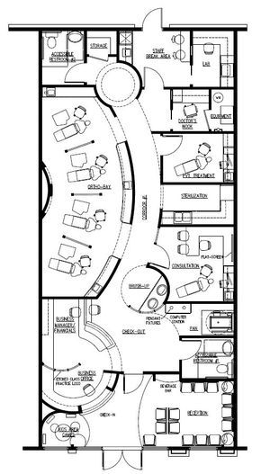 Beauty Salon Floor Plan Design Layout - 1400 Square Foot (maybe chop - new blueprint hair design