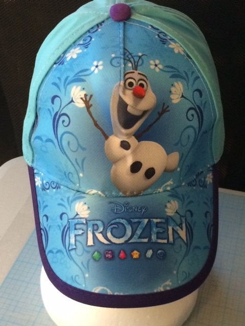 Disney's FROZEN OLAF Childs Baseball Cap Hat by CACBaskets on Etsy, $15.00