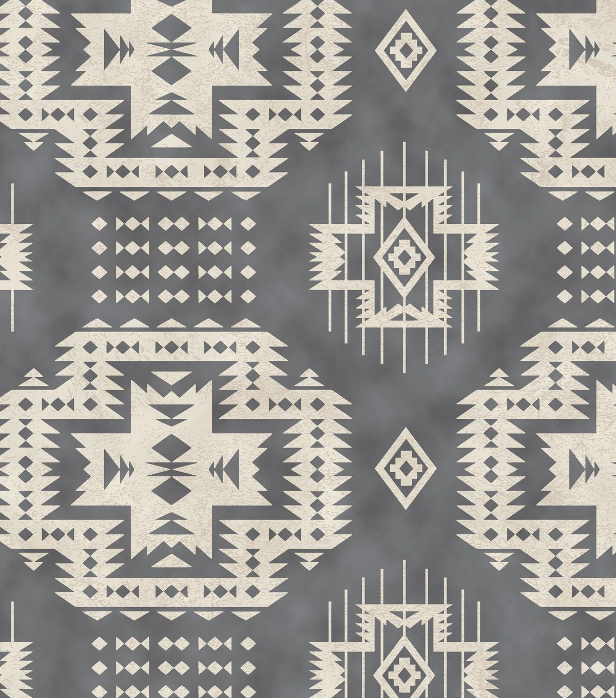 Snuggle Flannel Fabric Grey Aztec Fabric Finds With