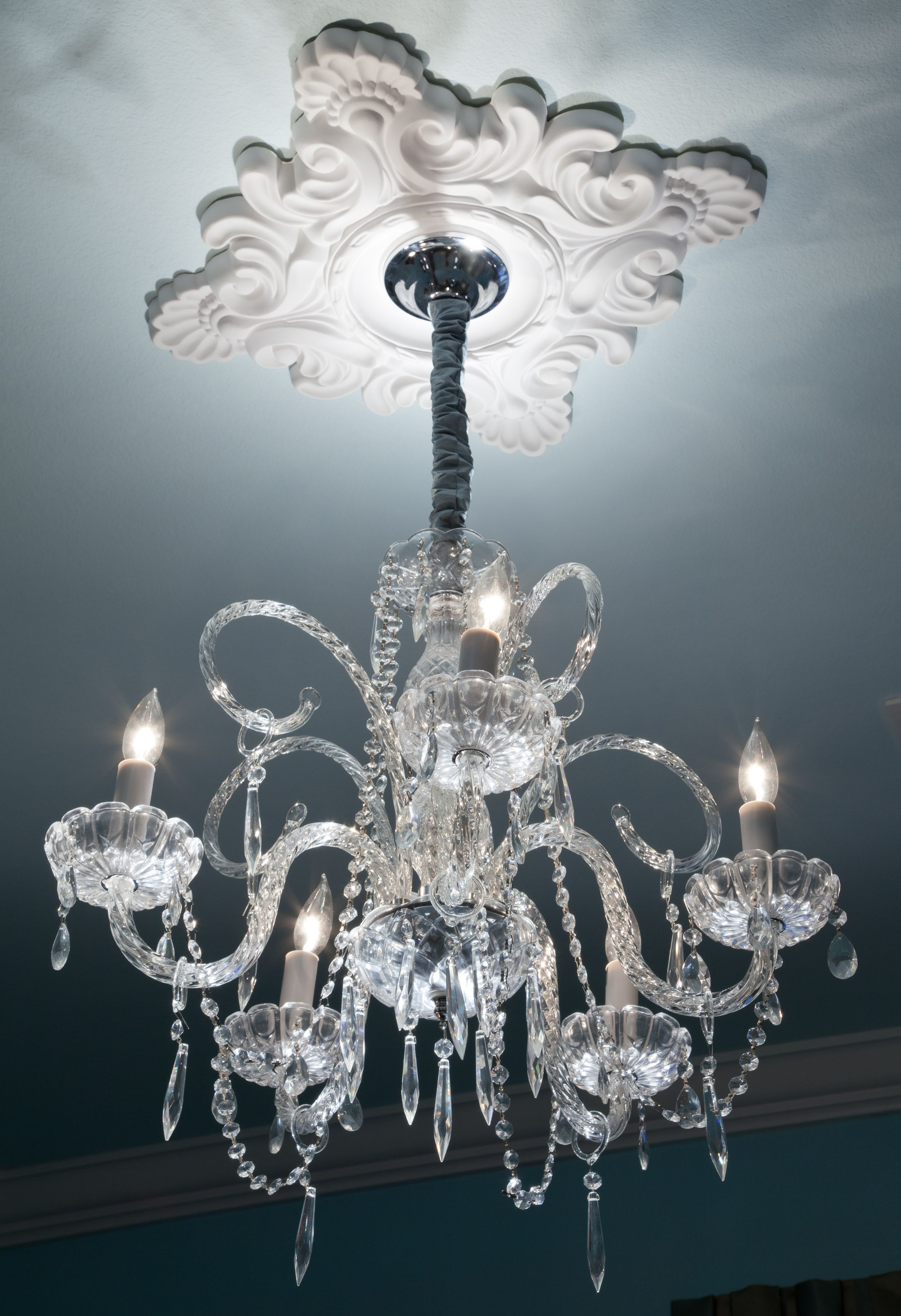 ceiling medallion with chandelier Google Search Home