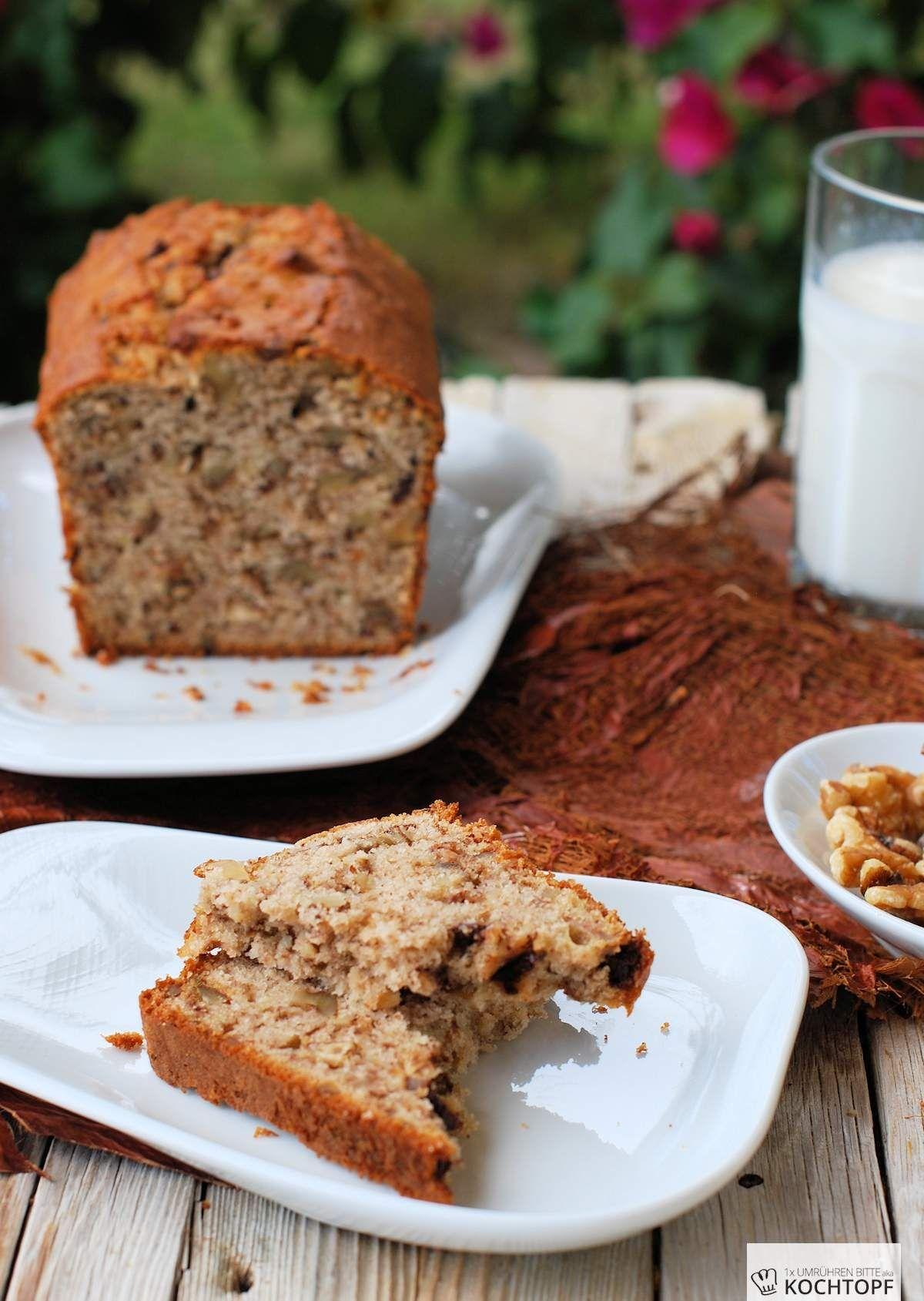 Walnuss-Schokoladen-Bananenbrot oder Banana Bread ist doch gar kein Brot!