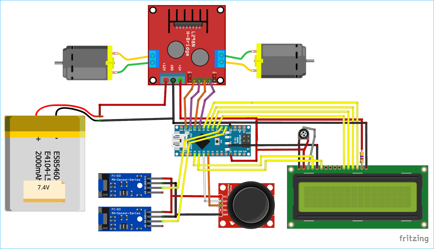 Circuit Diagram for Speed, Distance Measurement for Mobile Robots