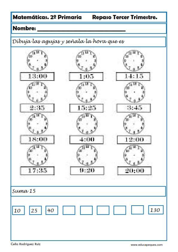 Ejercicios de matem ticas segundo primaria matem ticas 3 for Para desarrollar una entrada practica
