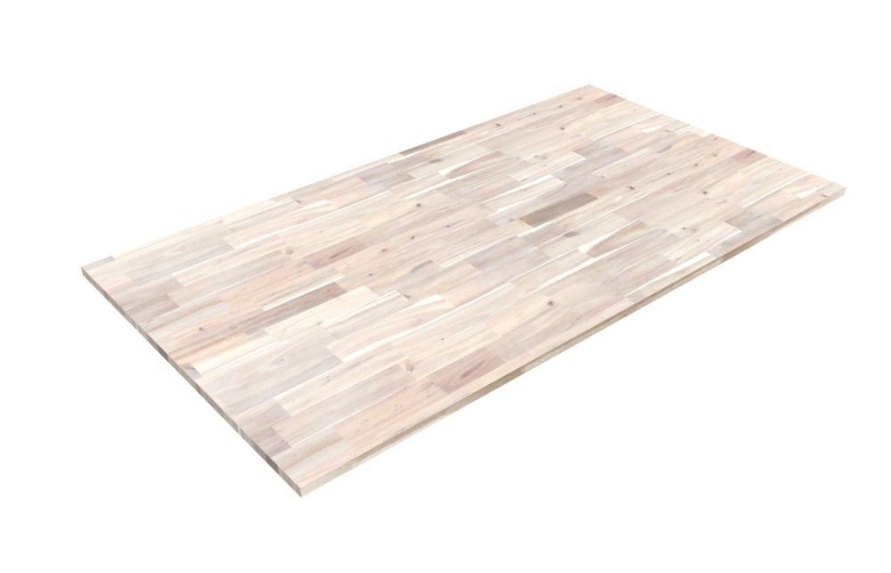 Acacia hardwood island top countertop 74 inch x 40 inch x