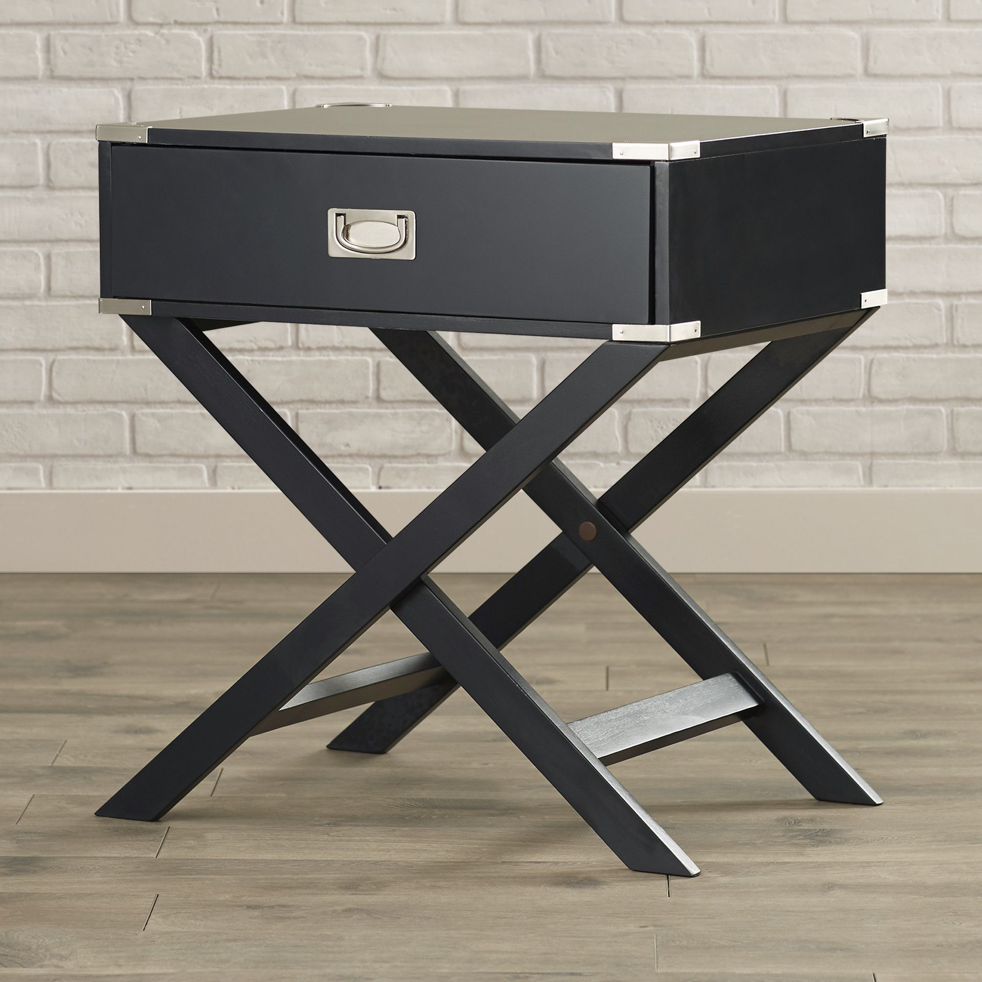 Mercury Row Neptune Campaign 1 Drawer End Table | AllModern