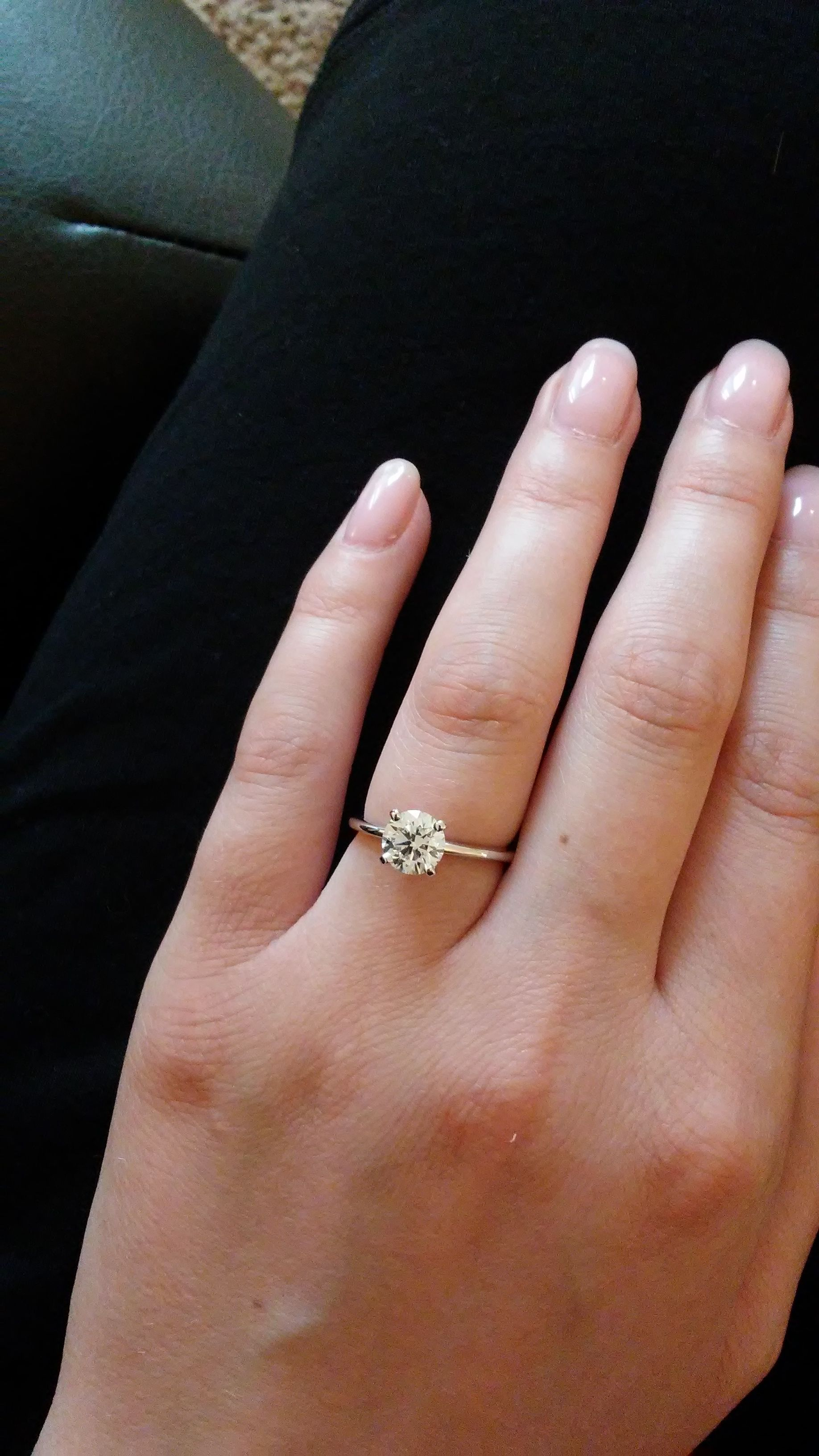 1 Carat Solitaire On Size 5 Finger Page 2 Page 2 In 2020 Round Solitaire Engagement Ring Yellow Engagement Rings 1 Carat Engagement Rings