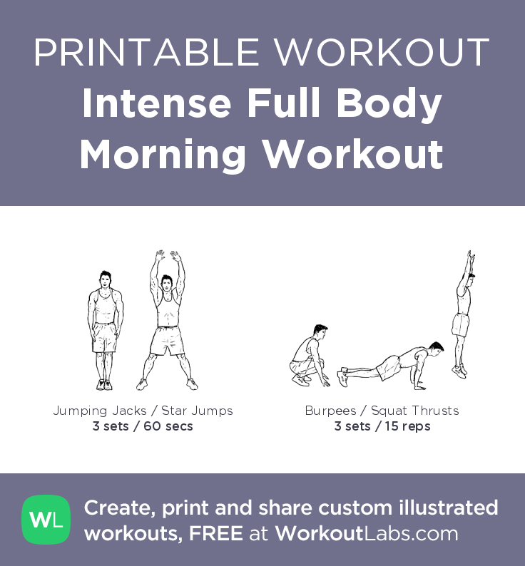 Intense Full Body Morning Workout illustrated exercise