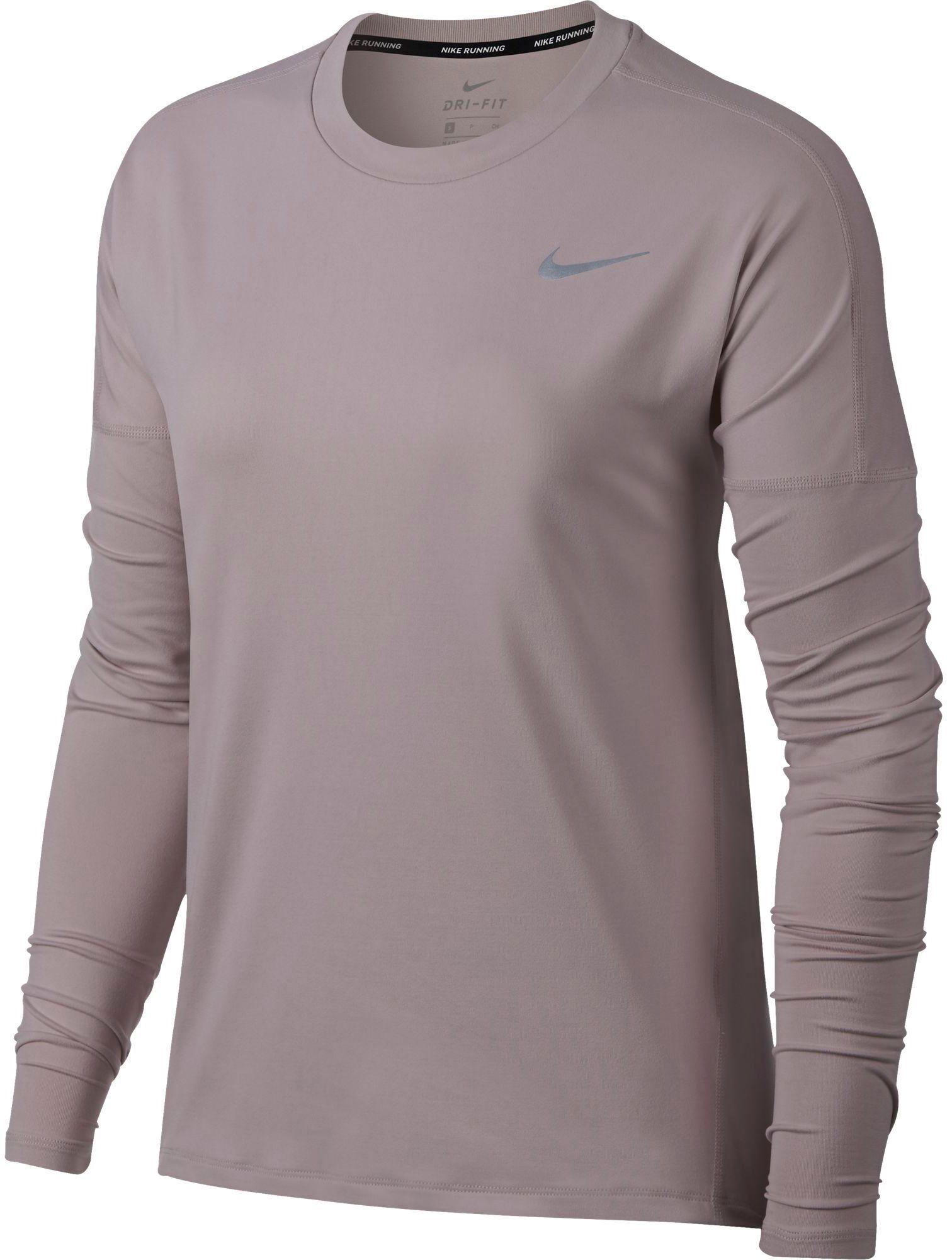d8445a917b73b Nike Women's Dry Element Long Sleeve Running Shirt, Size: Medium, Particle  Rose/