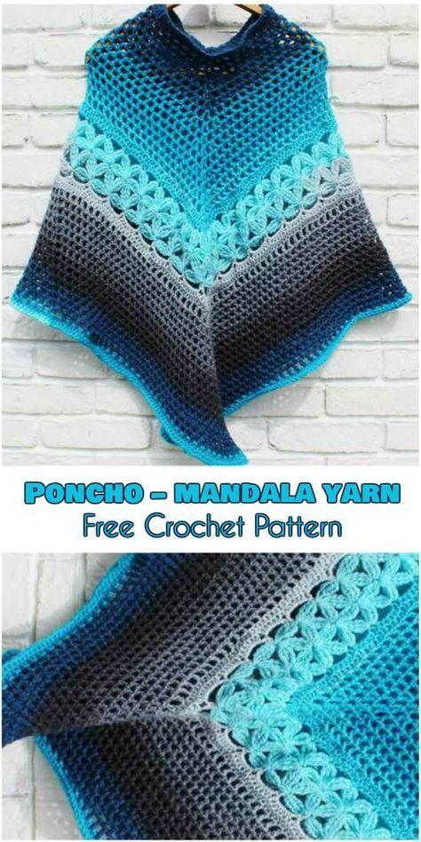 Poncho – Mandala Yarn – free crochet pattern